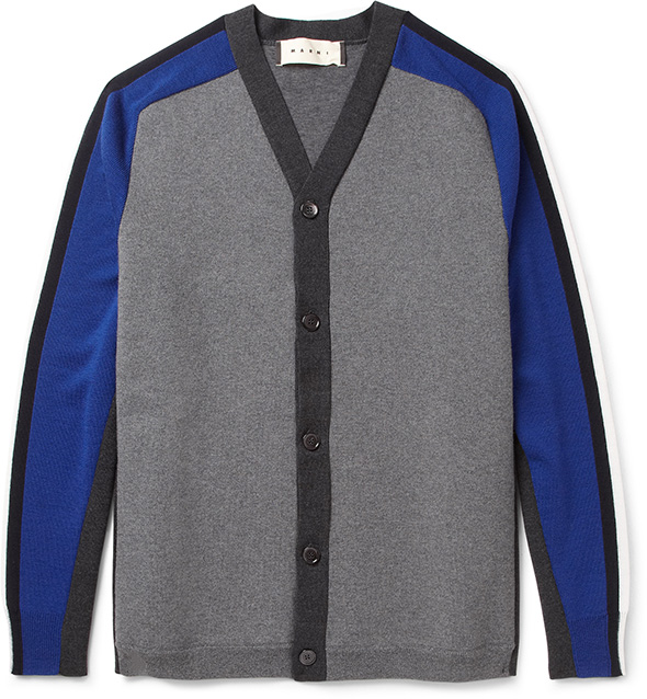 Marni MRPORTER blue & grey cardigan