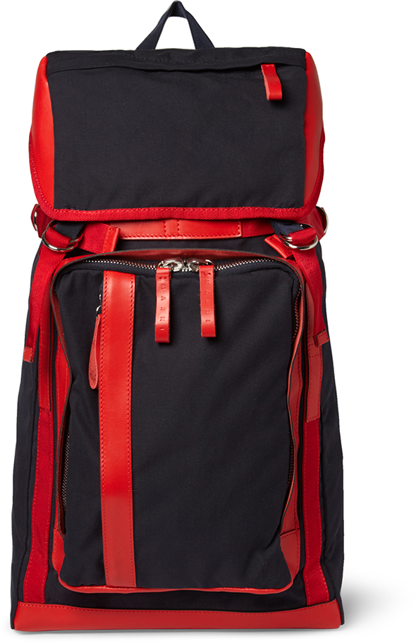Marni MRPORTER navy & red backpack